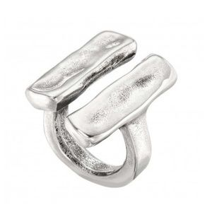 """UNO de 50 """"Unblocked"""" Ring Silver Plated NEW!"""